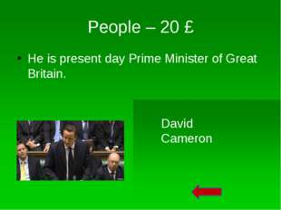 People – 50 £ Who is this person? Sergeant-at-Arms