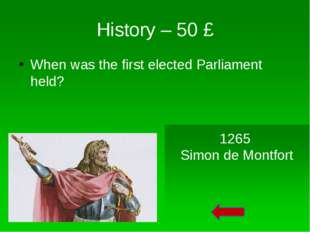 Monarch – 20 £ The Parliament of England began in the form of the Council of