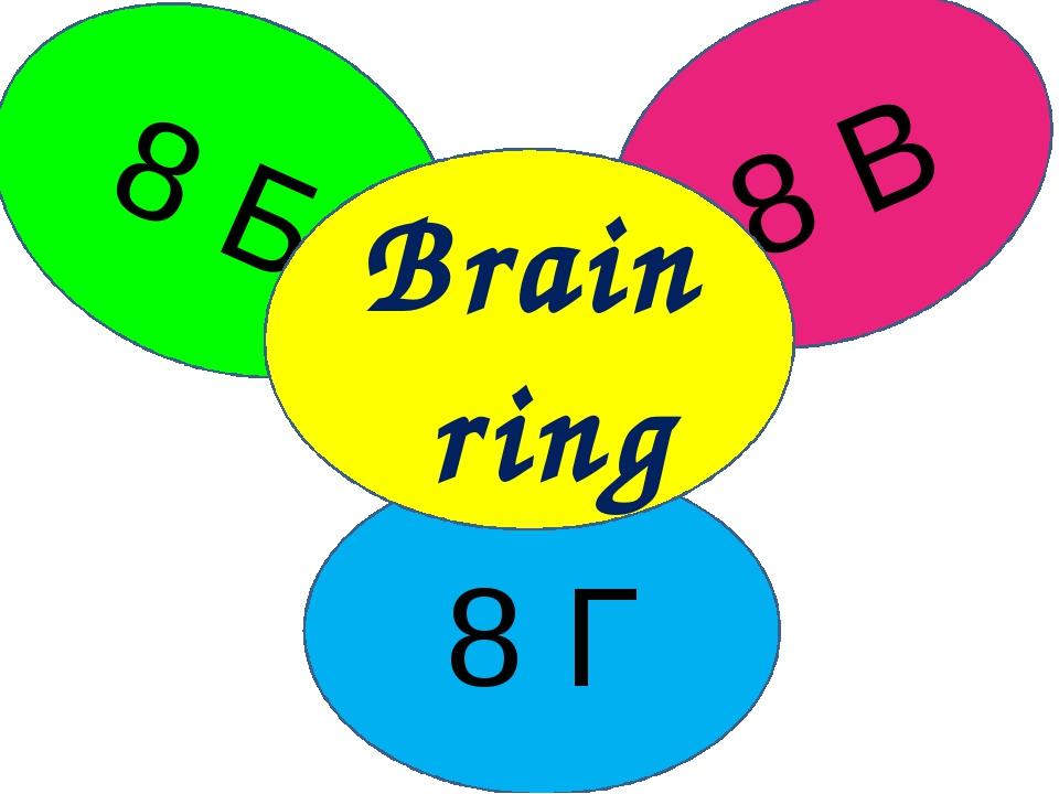8 Б 8 В 8 Г Brain ring