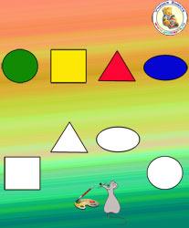 геометрические фигуры и цвета