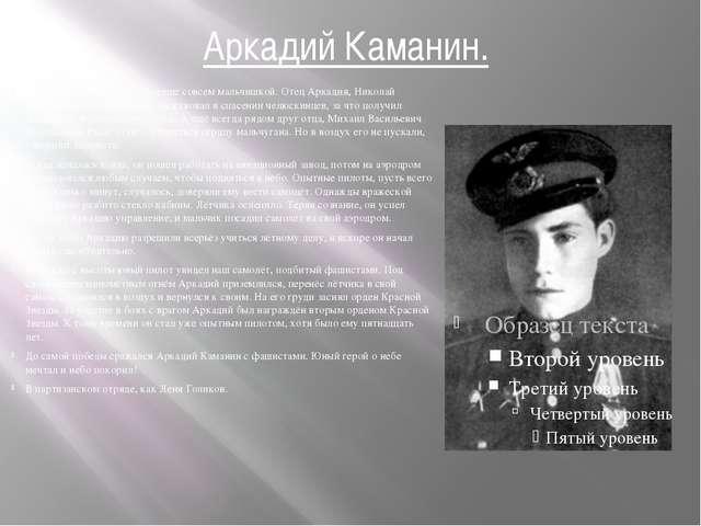 Аркадий Каманин. Он мечтал о небе, когда был ещё совсем мальчишкой. Отец Арка...