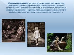 Жанровая фотография (от фр.genre)— художественное изображение сцен повседне
