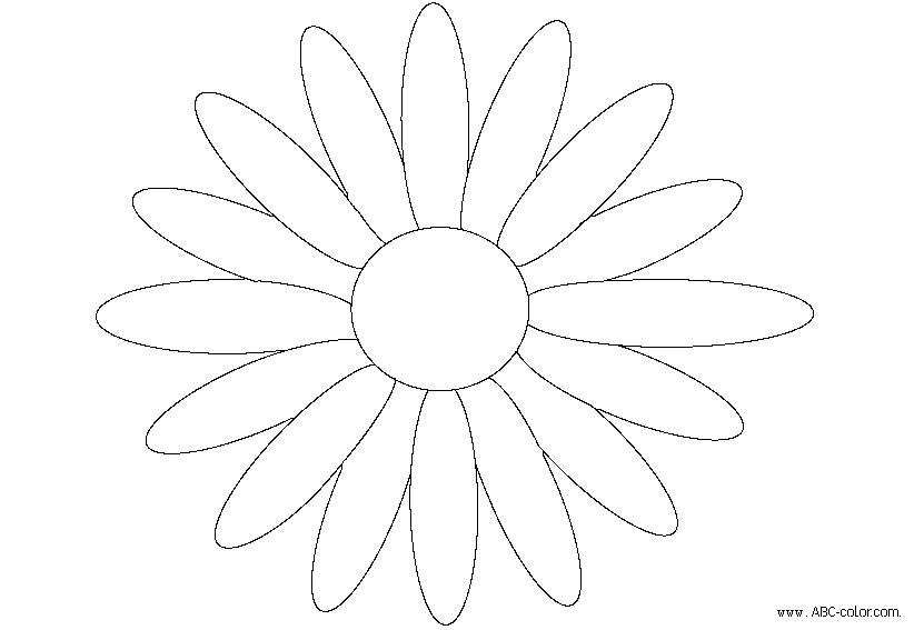 ромашка растровая раскраска