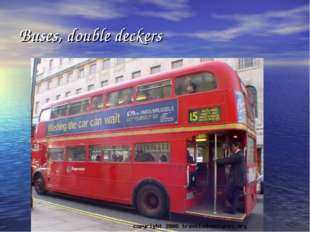 Buses, double deckers