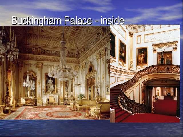 Buckingham Palace - inside