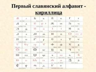 Первый славянский алфавит - кириллица