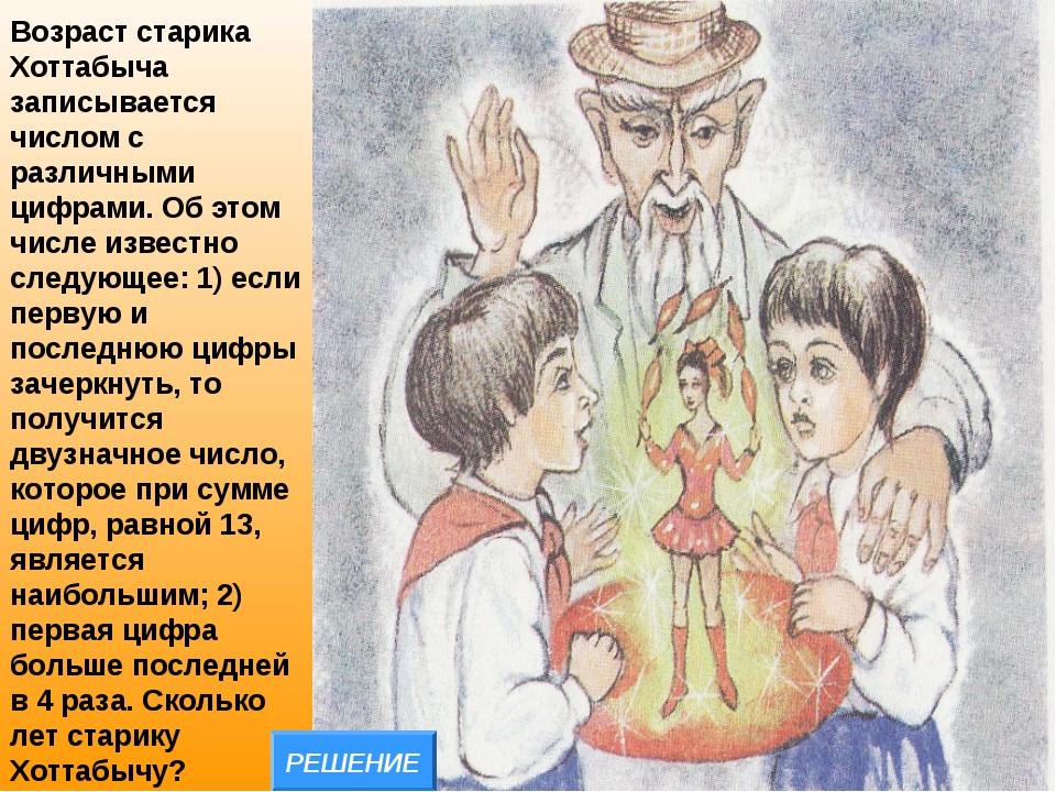 Возраст старика Хоттабыча записывается числом с различными цифрами. Об этом ч...