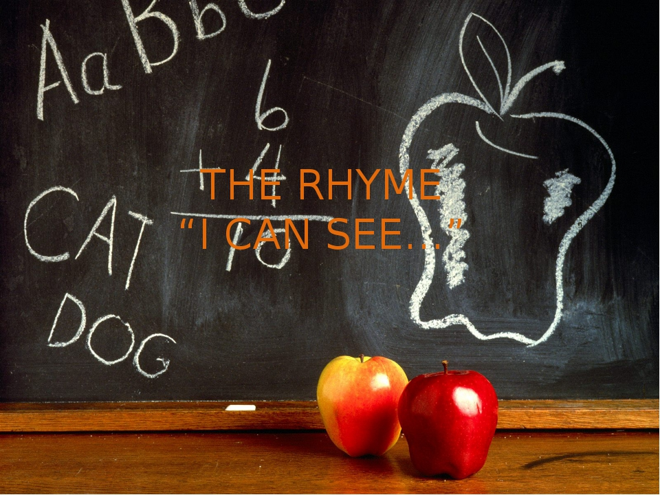 "THE RHYME ""I CAN SEE…"""