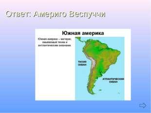 Ответ: Америго Веспуччи