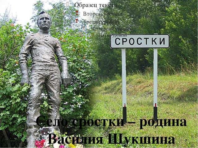 Село сростки – родина Василия Шукшина 