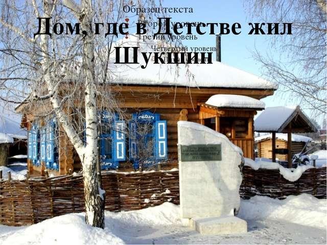 Дом, где в Детстве жил Шукшин 