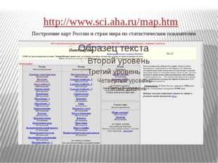 http://www.sci.aha.ru/map.htm Построение карт России и стран мира по статисти