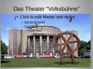 """Das Theater """"Volksbühne"""""""