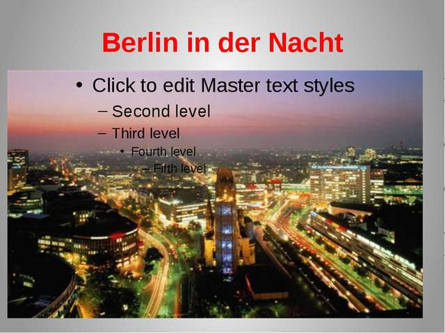 Berlin in der Nacht