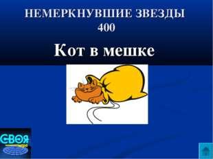 НЕМЕРКНУВШИЕ ЗВЕЗДЫ 400 Кот в мешке