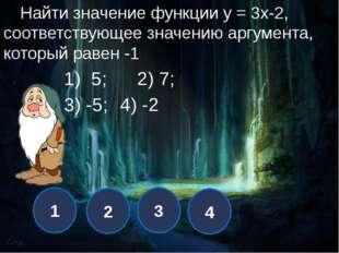 1 2 3 4 При каком значении k график функции у = кх +7 проходит через точку С