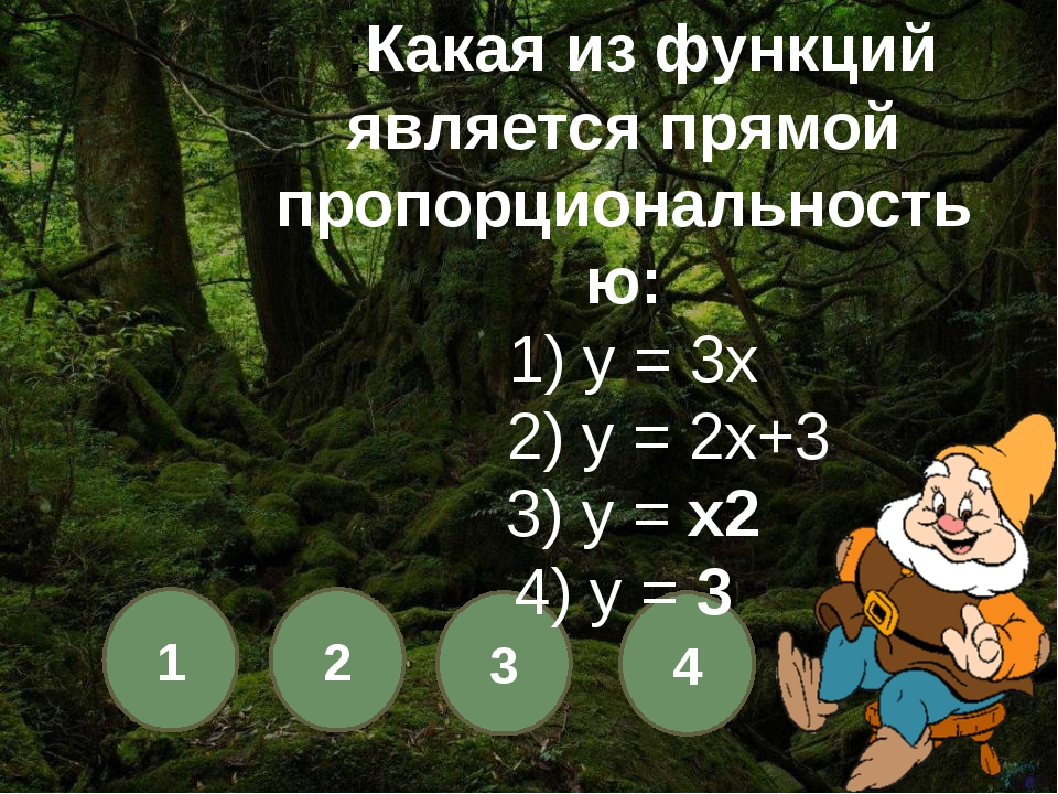 1 2 3 4 Какой из графиков лишний? 1) 4) 2) 3)