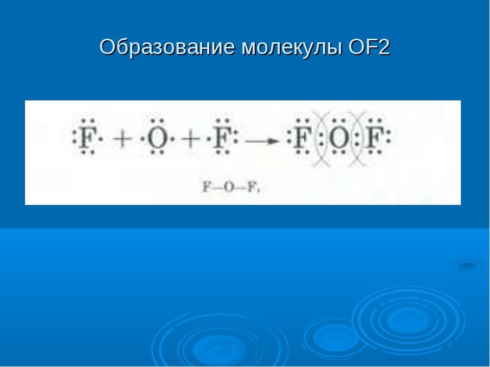 Образование молекулы OF2