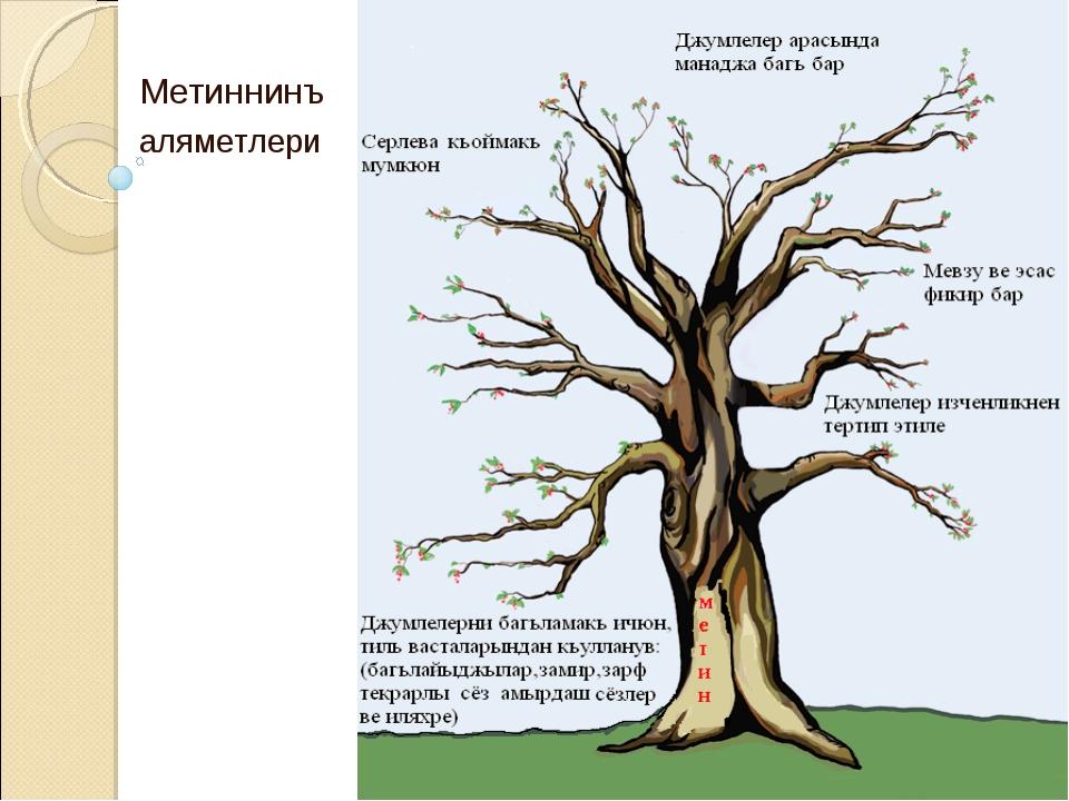 Метиннинъ аляметлери