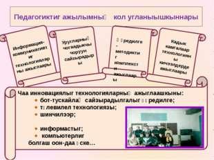 Педагогиктиг ажылымныӊ кол угланыышкыннары Информация-коммуникативтиг техноло
