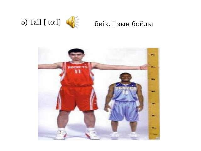 5) Tall [ to:l] биік, ұзын бойлы