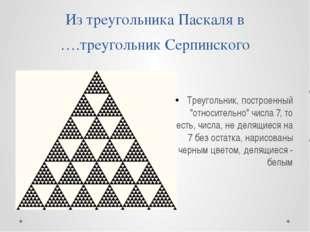 Из треугольника Паскаля в ….треугольник Серпинского Треугольник, построенный
