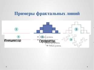 Примеры фрактальных линий Инициатор Генератор