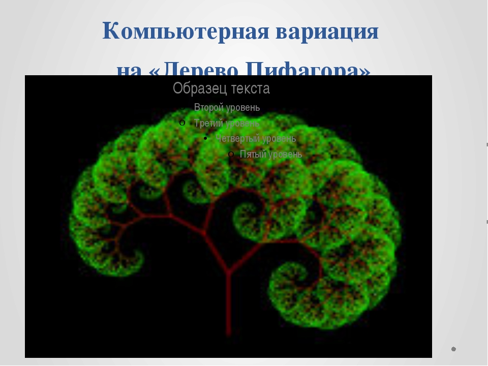Компьютерная вариация на «Дерево Пифагора»