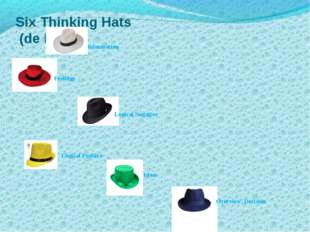 Six Thinking Hats (de Bono) information Feelings Logical Negative Logical Pos