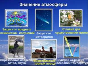 * Защита от вредных космических излучений Защита от резких колебаний температ