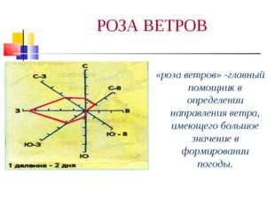 РОЗА ВЕТРОВ «роза ветров» -главный помощник в определении направления ветра,