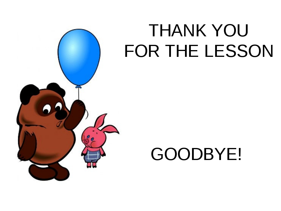 THANK YOU FOR THE LESSON GOODBYE!