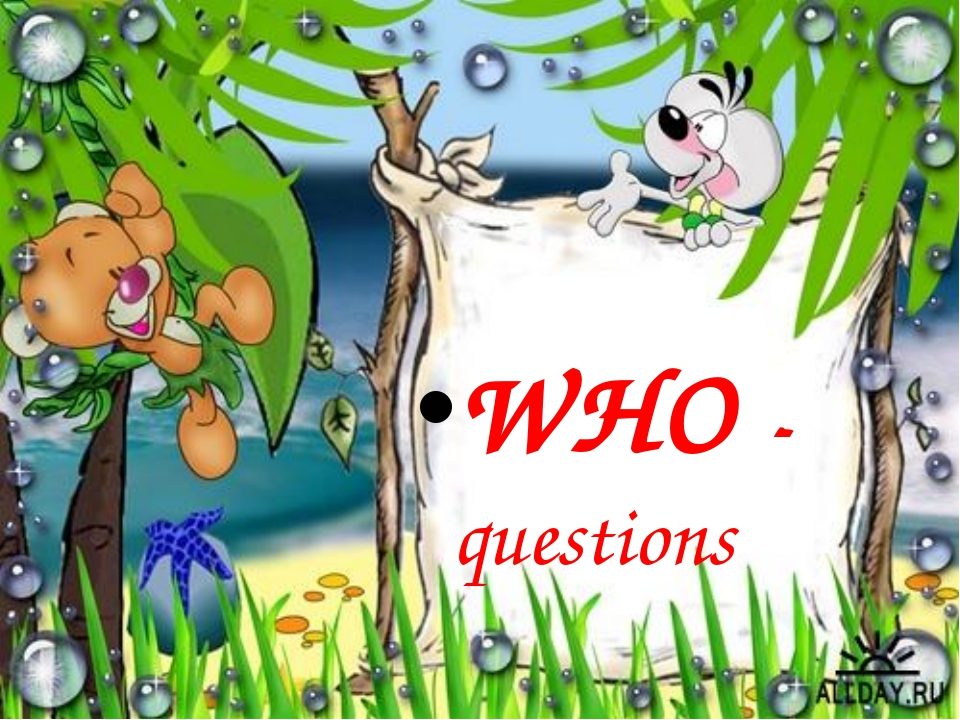 WHO - questions