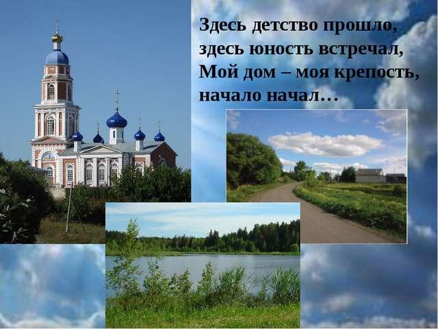 Здесь детство прошло, здесь юность встречал, Мой дом – моя крепость, начало н...