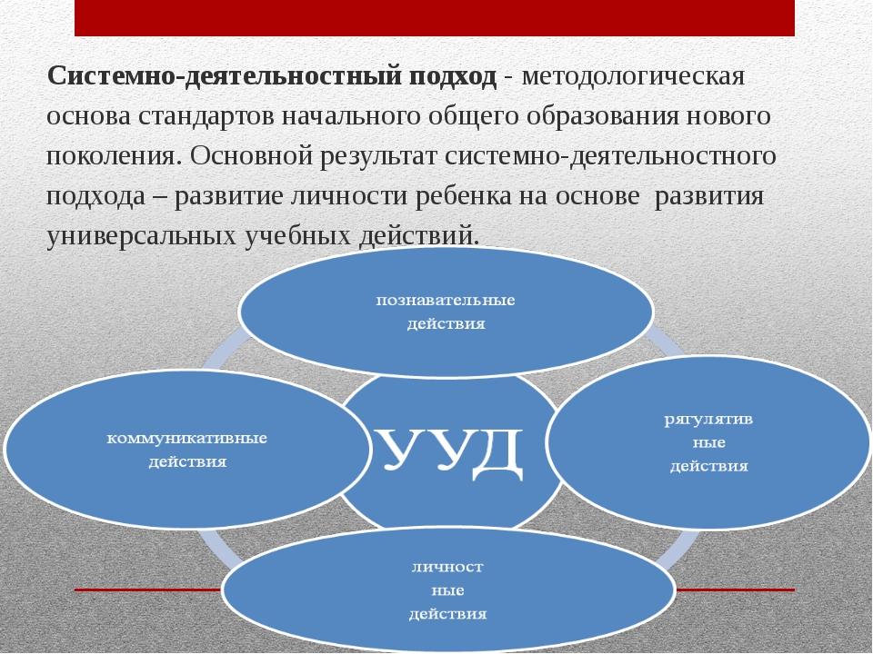 Системно-деятельностный подход - методологическая основа стандартов начально...