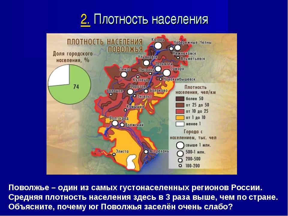Поволжье – один из самых густонаселенных регионов России. Средняя плотность н...