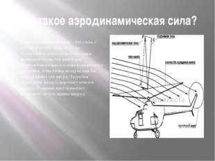 Что такое аэродинамическая сила? Аэродинамическая сила – это сила, с которой