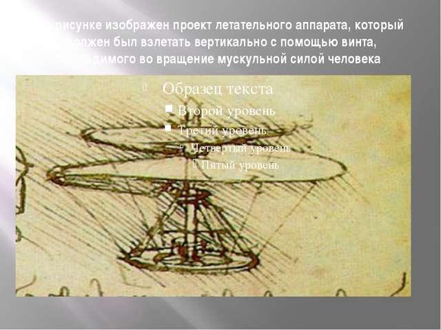На рисунке изображен проект летательного аппарата, который должен был взлетат...