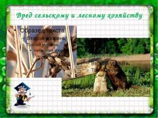 Вред сельскому и лесному хозяйству