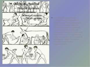 Египетские художники строили свои рисунки с правильным чередованием фигур, ра