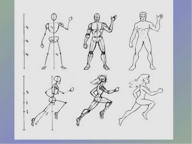 Фигуры людей в движении рисунки карандашом для