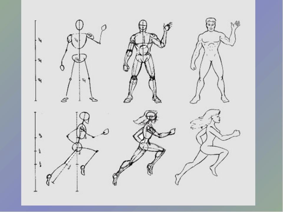 Изо 7 класс рисунки древний человек в движении
