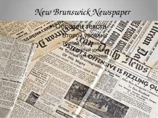 New Brunswick Newspaper