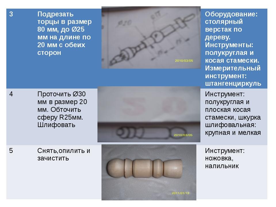 3 Подрезать торцы в размер 80 мм, до Ø25 мм на длине по 20 мм с обеих сторон...