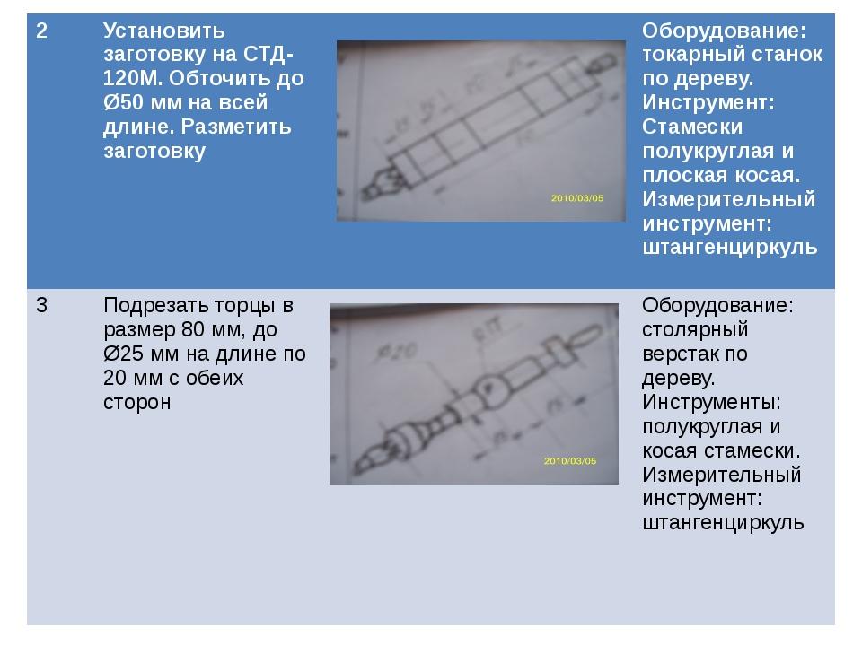 2 Установить заготовку на СТД-120М. Обточить до Ø50 мм на всей длине. Размети...
