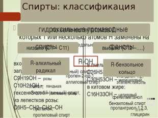 Функциональные группы гидроксогруппа (гидроксил) карбонильная группа (карбони