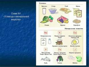 Схема №1 «Углеводы и минеральные вещества»