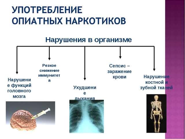 Нарушение функций головного мозга Нарушение костной и зубной тканей Ухудшение...