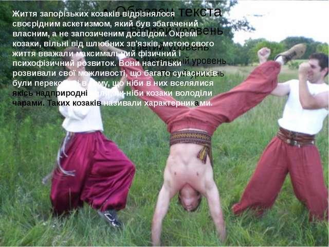 Життя запорізьких козаків відрізнялося своєрідним аскетизмом, який був збага...