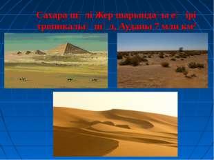 Сахара шөлі Жер шарындағы ең ірі тропикалық шөл, Ауданы 7 млн км2